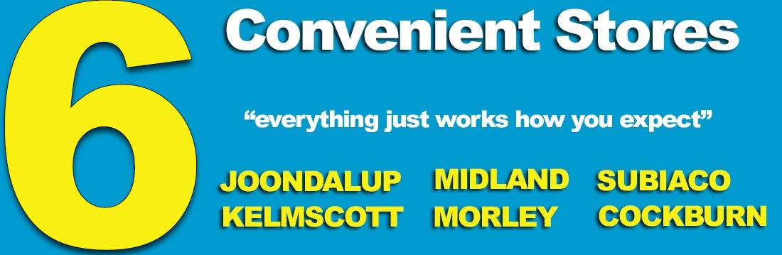 6 Convenient Stores