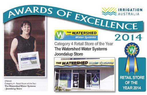 Irrigation Australia Retail Store of thh Year