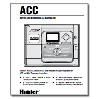 Hunter ACC controller Manual