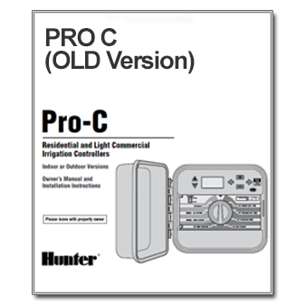 Hunter Pro C Old Version The Watershed Official Controller Manuals