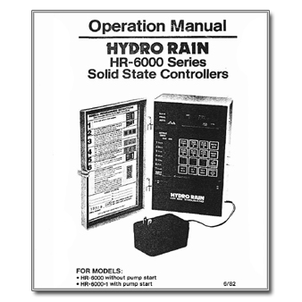 Hydro Rain HR-6000 Series Solid State Controller manual