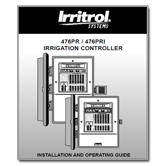 Irritrol 476PR-476PRI - The Watershed OFFICIAL CONTROLLER MANUALS