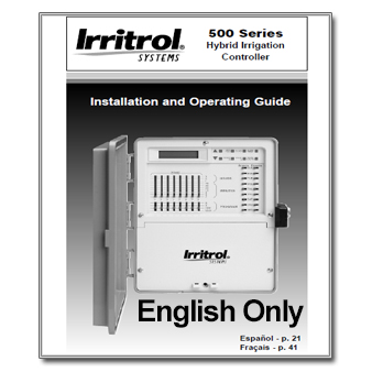 Irritrol 500 Series - The Watershed OFFICIAL CONTROLLER MANUALS LIBRARY