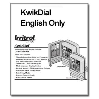 Irritrol KwikDial Manual