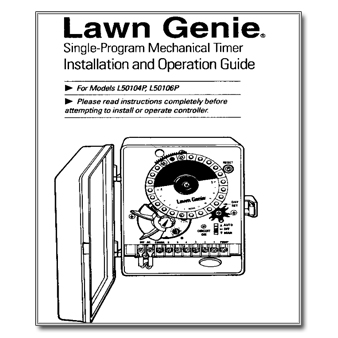 Lawn Genie L50104P 6P Controller Manual lawn genie archives the watershed official controller manuals  at fashall.co
