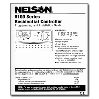 Nelson 8100 Series Controller Manual