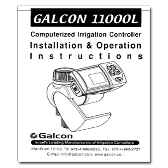 Galcon 11000L Tap Timer Controller Manual