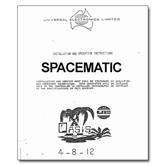 Oasis Spacematic Controller Manual
