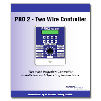 Rain Pro PRO 2 Two wire Controller Manual