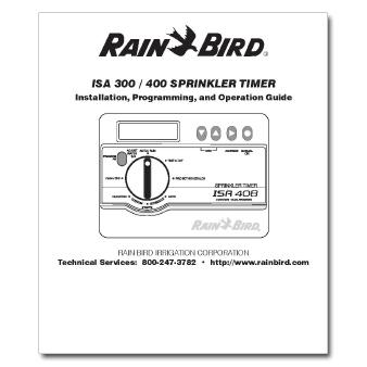 Rainbird ISA300 - 400 Controller Manual