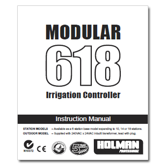 Rainmaster Modular 618 Controller Manual