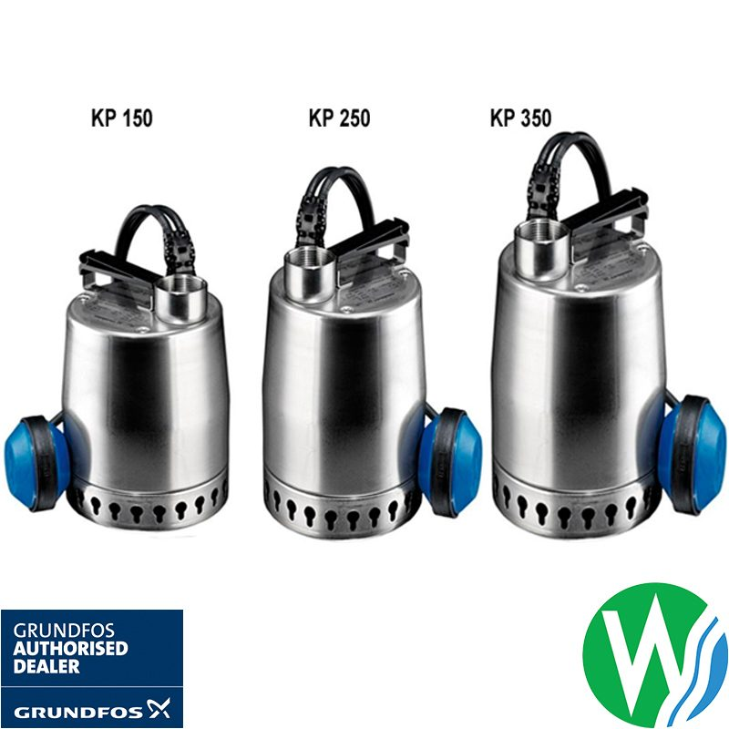 The Watershed Water Systems Authorised Dealer for Grundfos-KP-150-250-350-drainage-pumps