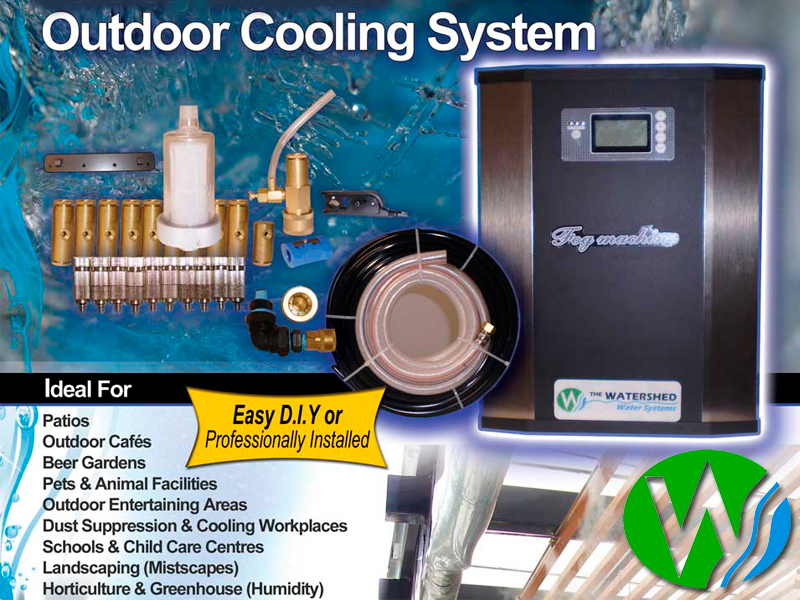 Outdoor Cooling Systems Cafe Style Mist Kit The