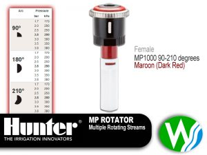 MP Rotator 1000 Female 90-210 degrees