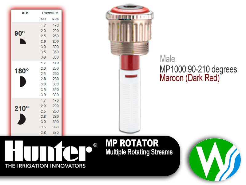 MP Rotator 1000 Male 90-210 degrees