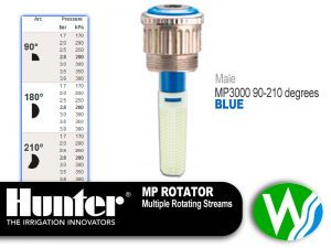 MP Rotator 3000 Male 90-210 degrees MP Rotators are Colour coded for easy identification.