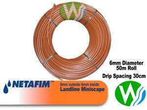 Netafim Landline 8 Miniscape 30cm space 50m Roll