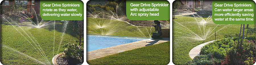 Gear drive sprinklers are efficient for Home Watering Systems