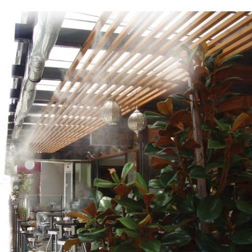 Amphoras Bar West Perth, Western Australia Mist System Installed by The Watershed 2013