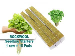 Rockwool Mini Cube Seed Starters 15 Pack