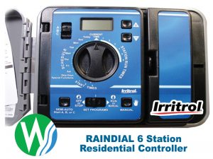 Raindial 6 station outdoor irrigation controller