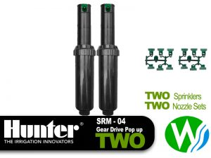 Hunter SRM Gear Drive Pop Up Sprinkler 2 Pack