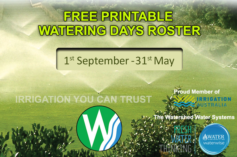 Watering Days Free Printable Roster download open and print A4 size