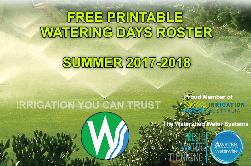 Watering Days with Printable Roster