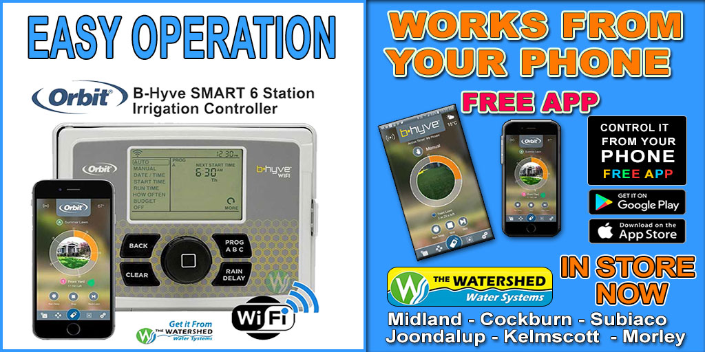 Waterwise Weather based Irrigation Controller B-Hyve 6 station controller popular in Perth