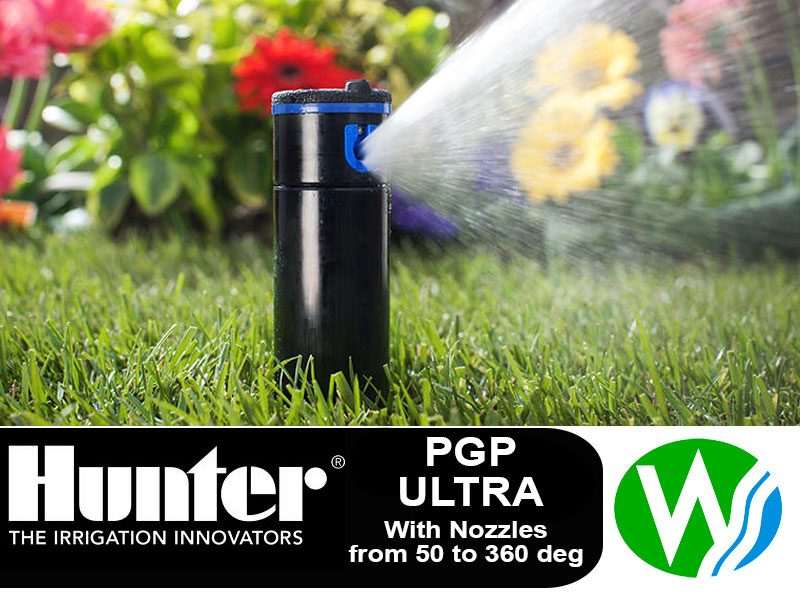 Hunter PGP Ultra Gear Drive Pop up Sprinkler with Nozzles