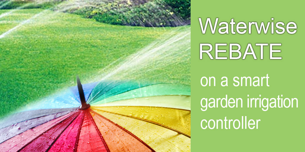 Get up to $200 rebate on a smart garden irrigation controller